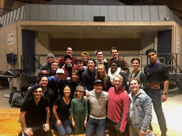 Photo Flash: Ben Fankhauser, Original Broadway Cast Member of NEWSIES, Attended NEWSIES at Arena Stage