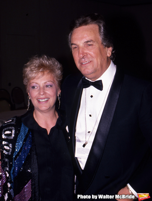 Danny Aiello with his wife on April 10, 1990 in New York City. Photo