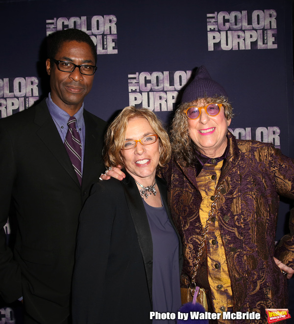 Stephen Bray, Marsha Norman and Allee Willis attending the Broadway Opening Night Per Photo