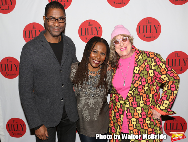 Stephen Bray, Brenda Russell and Allee Willis backstage at The Lilly Awards Broadway  Photo