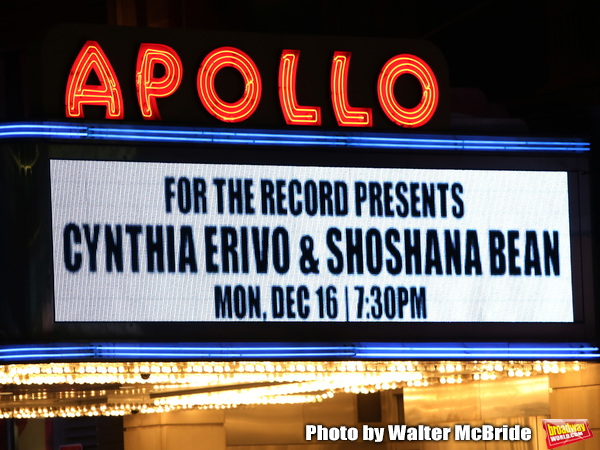 Theatre Marquee for Cynthia Erivo and Shoshana Bean performing in The 2nd Annual Nigh Photo