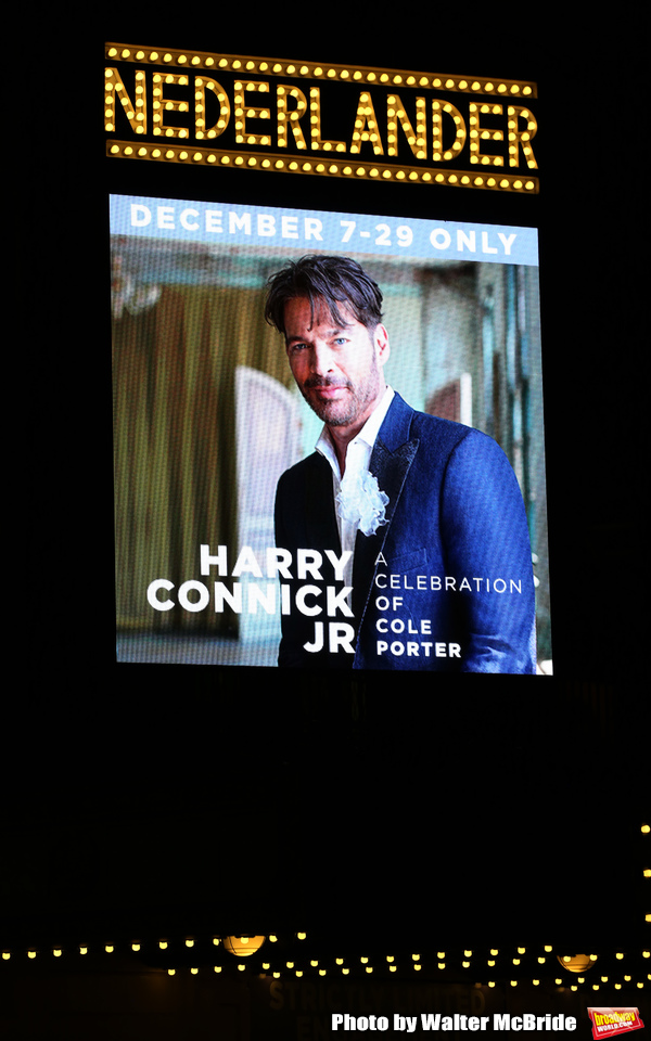 "Theatre Marquee for the opening night of ""Harry Connick Jr - A Celebration Of Cole Porter"" on Broadway at Nederlander Theatre on December 12, 2019 in New York City."