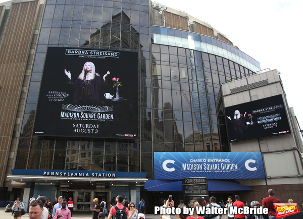 Barbra Streisand Theatre Marquee for her August 3, 2019 Concert at Madison Square Gar Photo