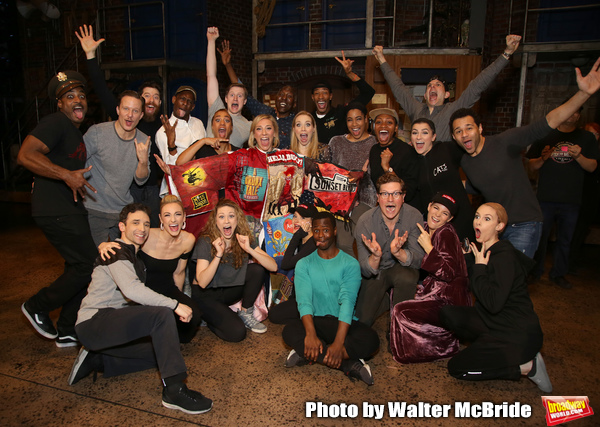 Erica Mansfield, Will Chase, Kelli O'Hara, Corbin Bleu and the cast during the Photo
