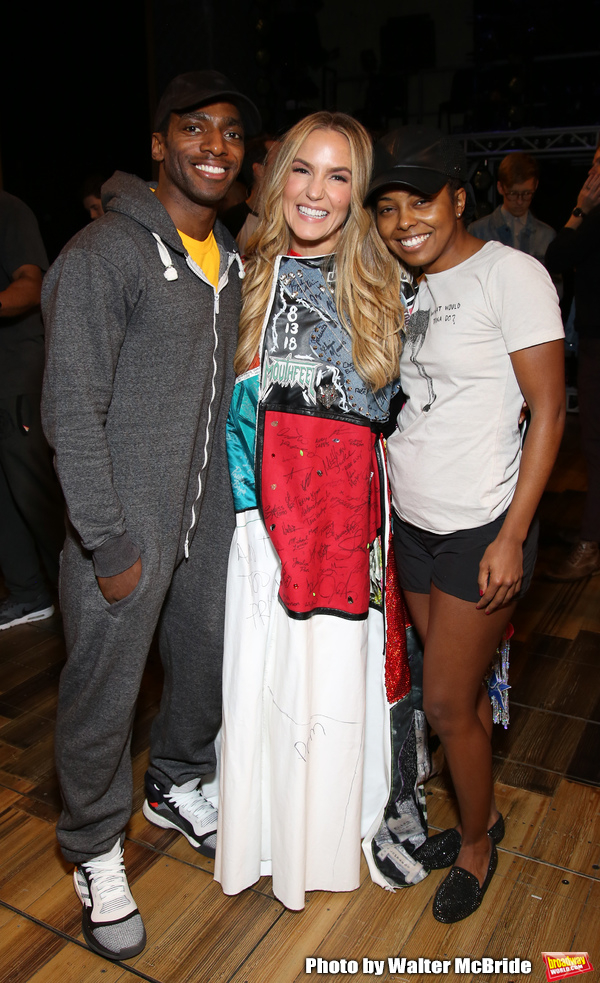 "Daniel J. Watts, Katie Webber and Adrienne Warren during the ""Tina - The Tina Turner  Photo"