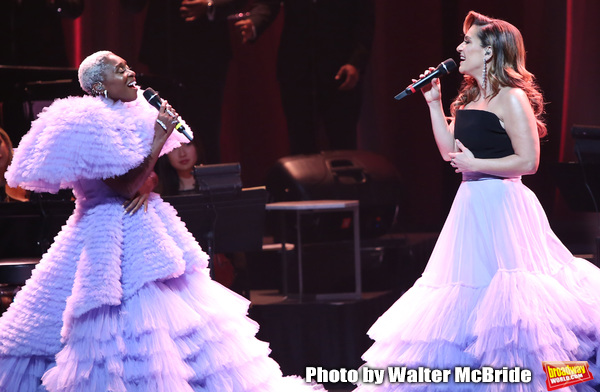 Cynthia Erivo and Shoshana Bean performing in The 2nd Annual Night Divine Holiday Con Photo