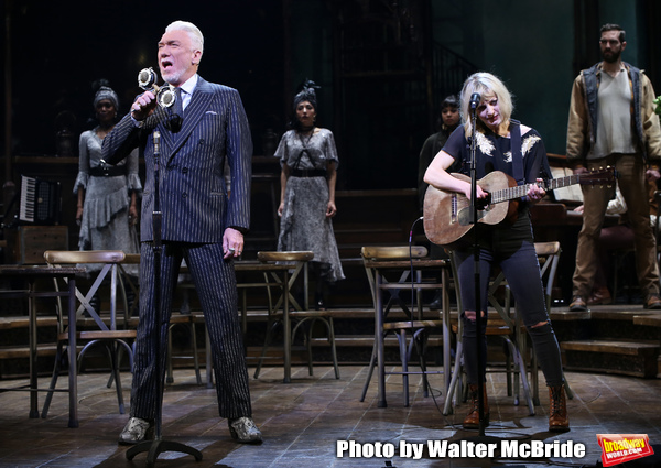 "Patrick Page and Anais Mitchell during the Broadway Press Performance Preview of ""Had Photo"