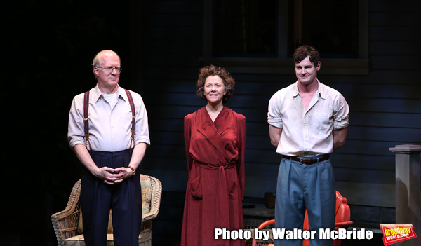 Tracy Letts, Annette Bening and Benjamin Walker during the Broadway Opening Night Cur Photo