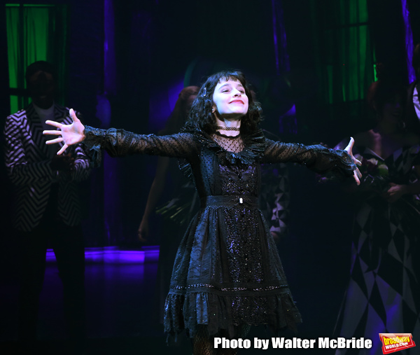 """Sophia Anne Caruso during the Broadway Opening Night Performance Curtain Call for """"Be Photo"""