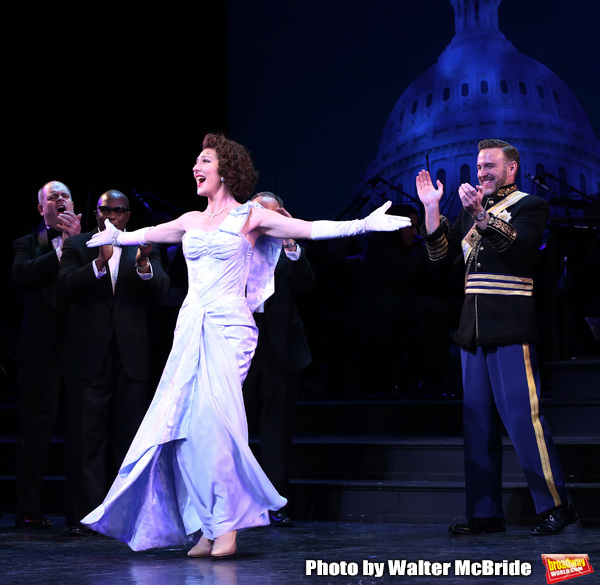 Carmen Cusack and Ben Davis during the Curtain Call for the closing Night performance Photo