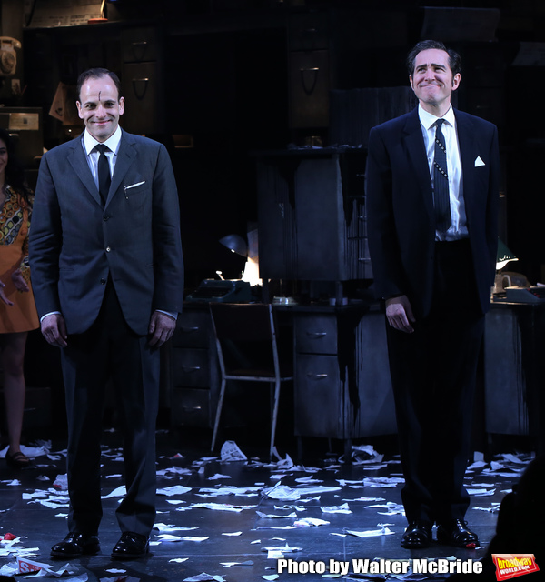 Johnny Lee Miller and Bertie Carvel during the Broadway Opening Night Curtain Call fo Photo