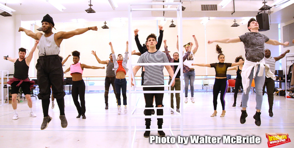 """Casey Cott and cast during the rehearsal for The Kennedy Center production of """"The Wh Photo"""