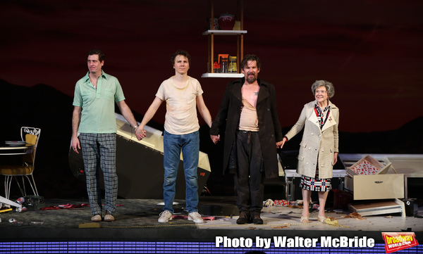 Gary Wilmes, Paul Dano, Ethan Hawke, Marylouise Burke during the Broadway Opening Nig Photo