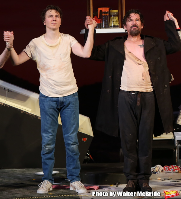 Paul Dano and Ethan Hawke during the Broadway Opening Night Curtain Call for the Roun Photo