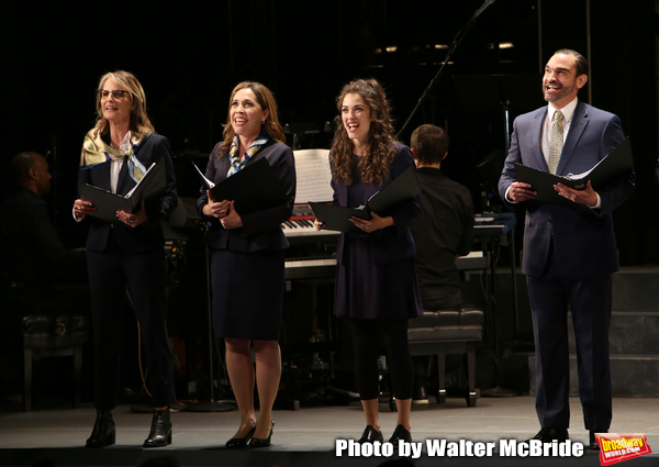 Helen Hunt, Andrea Burns, Tessa Grady and Javier Munoz during the Opening Night perfo Photo