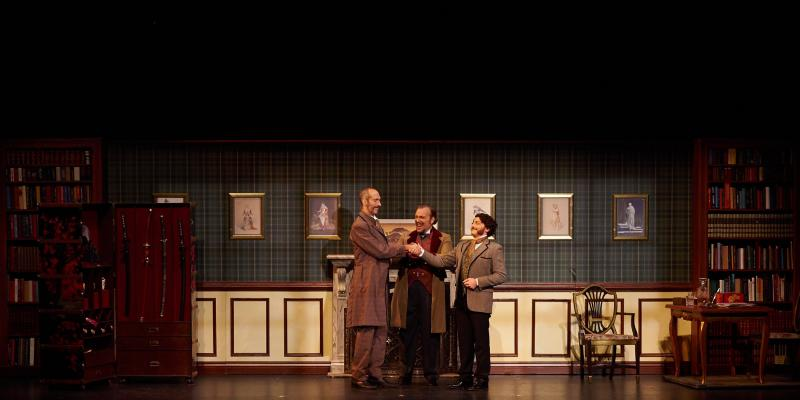 David Auxier, Matthew Wages, and David Macaluso in the Mikado at NYGASP