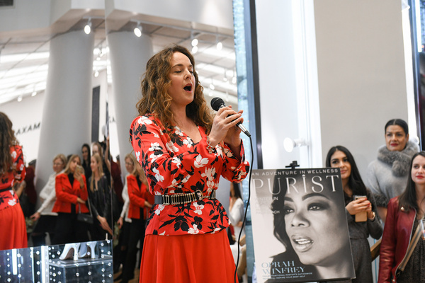 Photo Flash: Melissa Errico Performs At The Purist Holiday Party At BCBGMAXAZRIA On Fifth Avenue