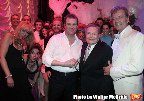 Backstage with Douglas Hodges, Jerry Herman, Kelsey Grammer & the ensemble cast durin Photo
