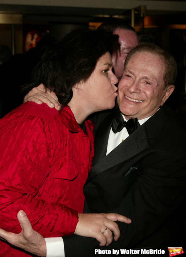 Rosie O'Donnell and Jerry Herman attending the Opening Night performance for' LA CAGE aux FOLLES 'at the Marquis Theatre in New York City. December 9, 2004