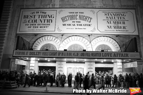 Theatre Marquee unveiling for the  forthcoming Broadway revival of Michael Stewart an Photo