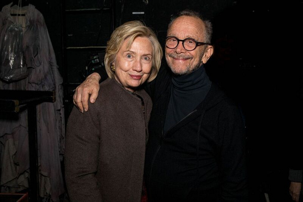 Hillary Clinton and Joel Grey Photo