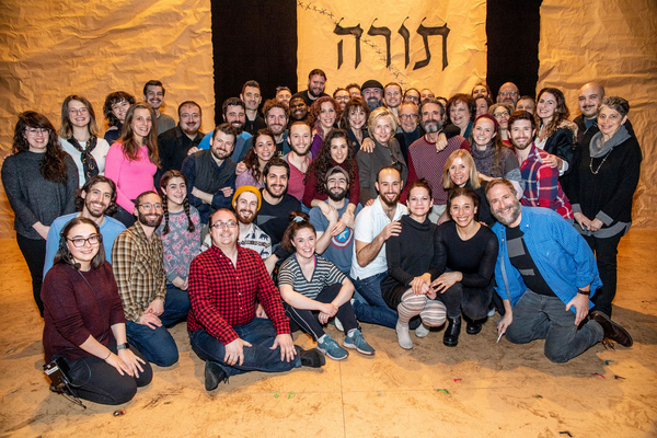Hillary Clinton and the cast of Fiddler on the Roof Photo