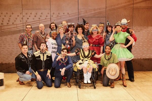 Photo Flash: The Cast and Band of OKLAHOMA! Celebrated Their New Years Eve Early With a Festive Photo Shoot