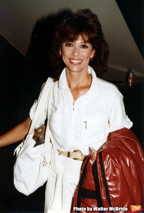 """Rita Moreno after a performance in """"Wally's Cafe"""" June 1981 at the Brooks Atkinson Th Photo"""