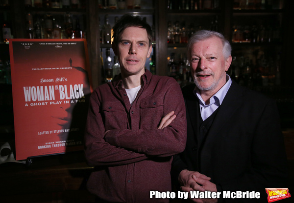 "Ben Porter and David Acton attend the photo call for ""The Woman in Black""  on January 6, 2020 at the McKittrick Hotel in New York City."