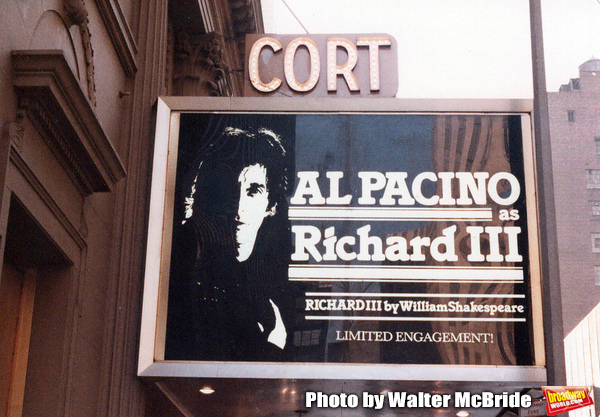 Vintage Marquee: Al Pacino in RICHARD III At The Cort Theatre