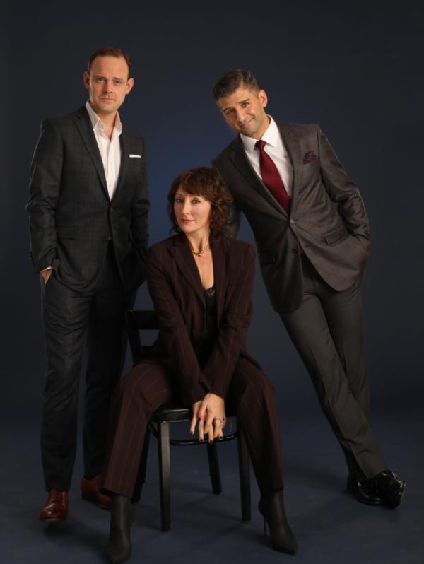 Harry Hadden-Paton, Carmen Cusack and Tony Yazbeck Photo