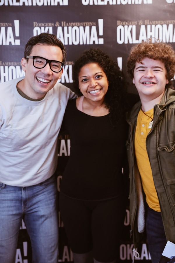 Photo Flash: Ethan Hawke, Conrad Ricamora and Gaten Matarazzo Stopped by OKLAHOMA!