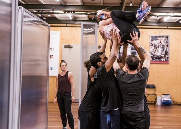Photo Flash Inside Rehearsal For Frantic Assembly S I