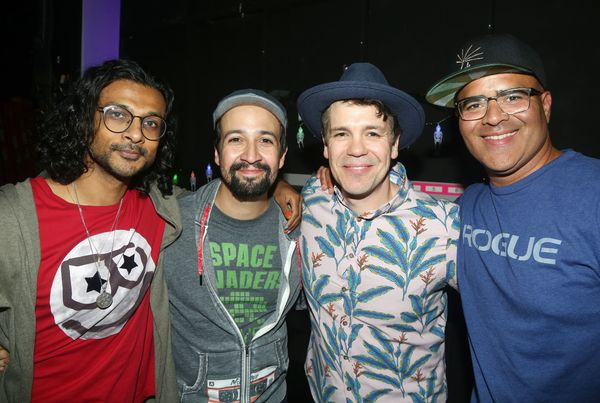 Utkarsh Ambudkar, Lin-Manuel Miranda, Anthony Veneziale, Christopher Jackson Photo