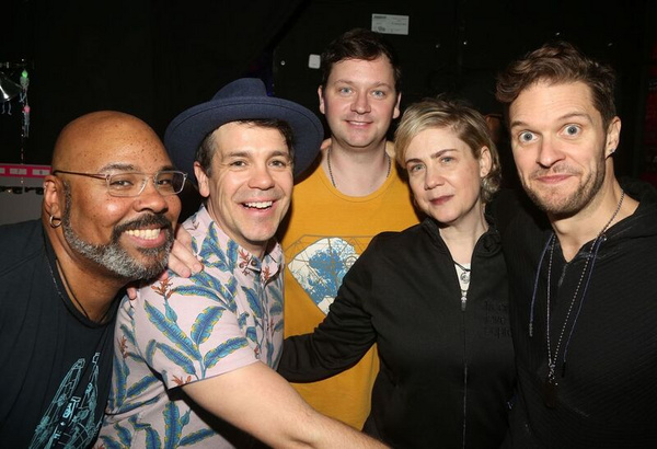 James Monroe Iglehart, Anthony Veneziale, Chris Sullivan, Producer Jenny Steingart, A Photo