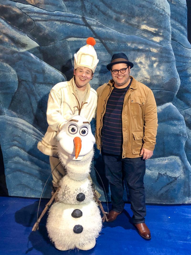 Photo Flash: Original Olaf, Josh Gad, Visits FROZEN on Tour!