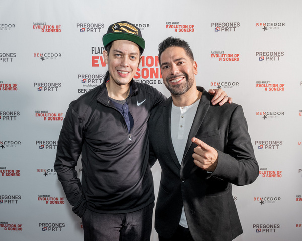 Flaco Navaja and Director-Producer Ben DeJesus on opening night of Evolution of a Son Photo