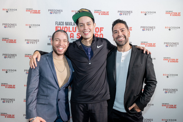 Robin De Jesus, Flaco Navaja and Ben DeJesus on opening night of Evolution of a Soner Photo