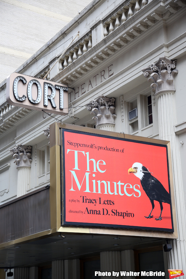 "Theatre Marquee for ""The Minutes"" by Pulitzer Prize-winning playwright Tracy Letts an Photo"