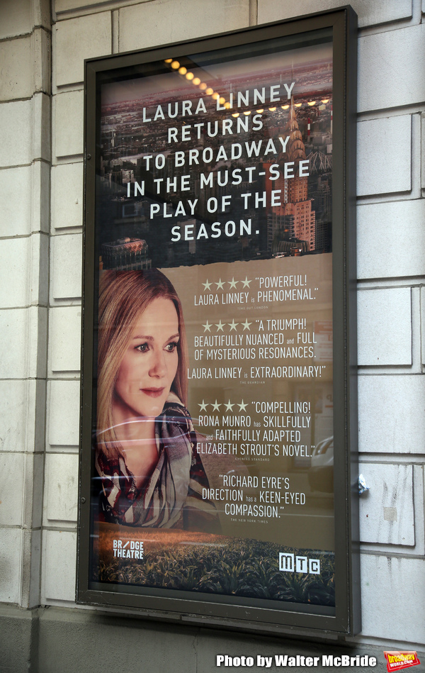 "Theatre Marquee for Laura Linney returning to Broadway in a haunting new solo play, "" Photo"