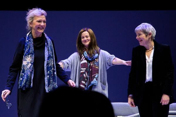 Elizabeth Strout, Laura Linney, Rona Munro Photo