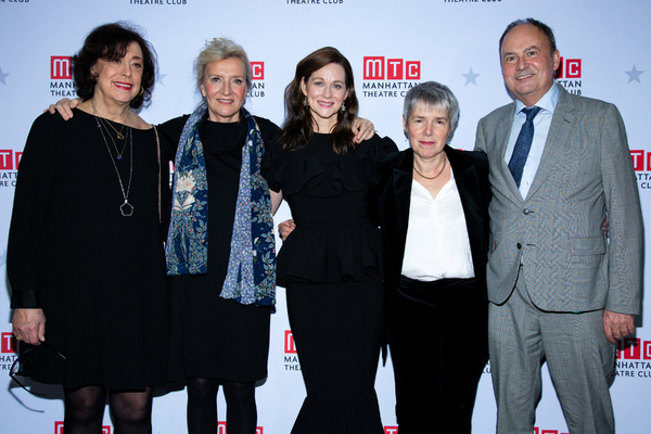 Lynne Meadow, Elizabeth Strout, Laura Linney, Rona Munro, Nick Starr Photo