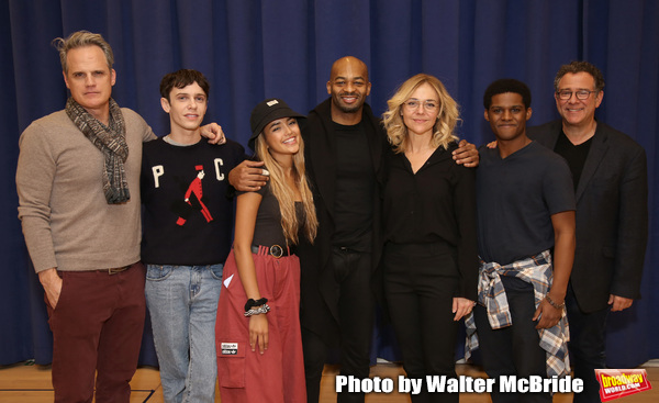 Michael Park, Ben Levi Ross, Maia Reficco, Brandon Victor Dixon Rachel Bay Jones, Khamary Grant and Michael Greif