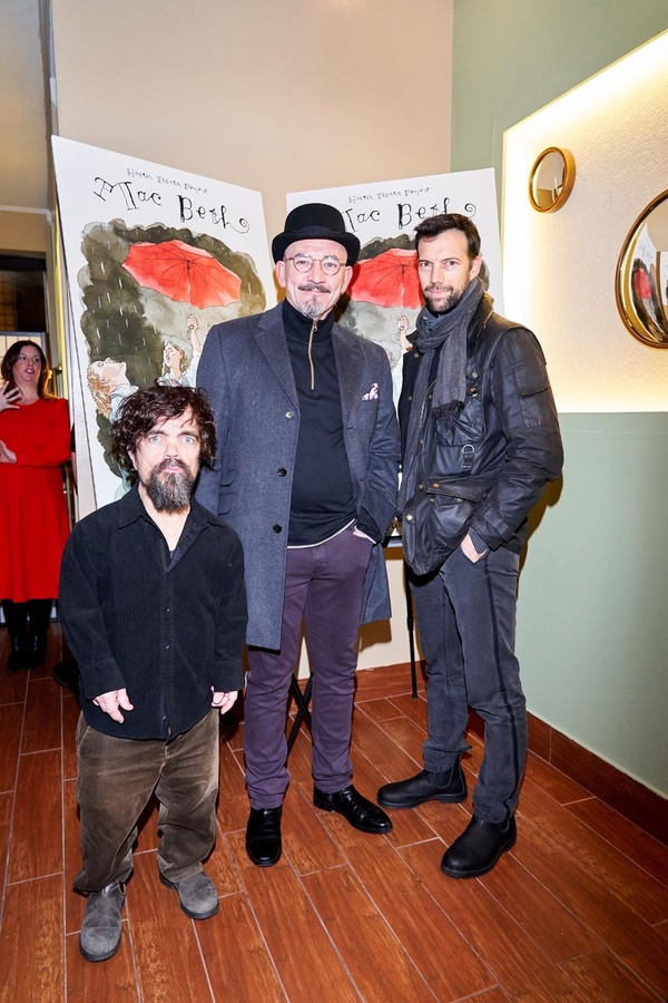 Peter Dinklage, Ritchie Coster, Lorenzo Pisoni                               Photo