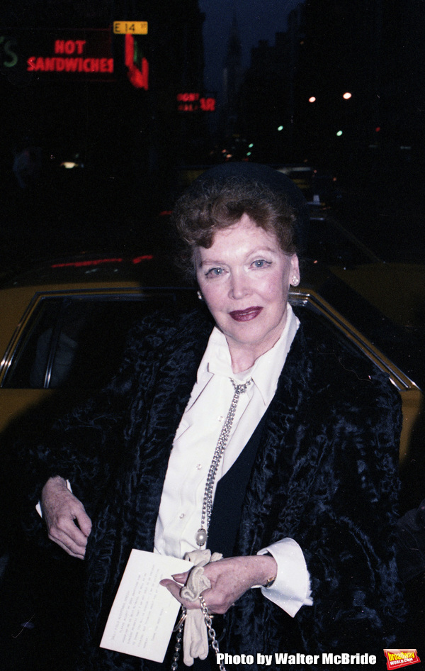 Photo Flashback: Maureen O'Sullivan Dines in NYC in 1979