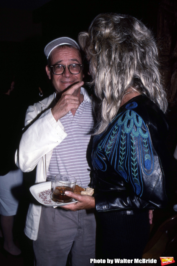Buck Henry and Sally Kirkland attend a movie premiere on September 6, 1988 in Los Ang Photo