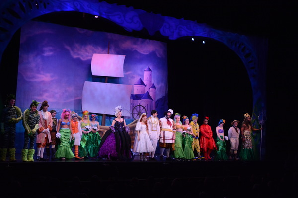 The Cast of The Little Mermaid that includes-Courtney Balan, Adrian Grace Bumpas, J Ryan Carroll, Ryan Cavanagh, A-Larnee David, Alphonse Gonzales, Stephen Foster-Harris, Kimberly Immanuel, Danielle Jordan, Derek Kastney, Emily Madden, Victoria Madden, Warren Nolan, Jr., Matthew Rafanelli, Michelle Rubino, Christopher Salvaggio, Conor Stepnowski, Jeff Sullivan, Valerie Torres0Rosario, Ryan Gregory Thurman and Michael Valvo