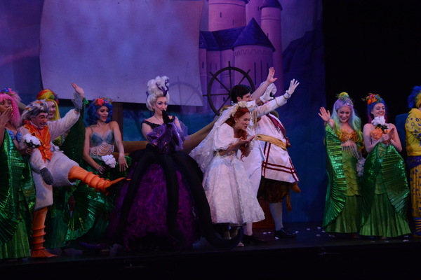 The Cast of The Little Mermaid that includes-Courtney Balan, Adrian Grace Bumpas, J R Photo