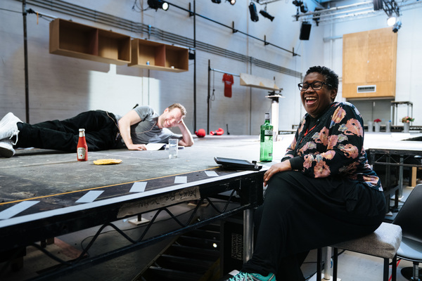 Photo Flash: Inside Rehearsal For DEATH OF ENGLAND at the National Theatre