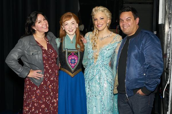 Kristen Anderson-Lopez, Caroline Innerbichler, Caroline Bowman, Robert Lopez Photo
